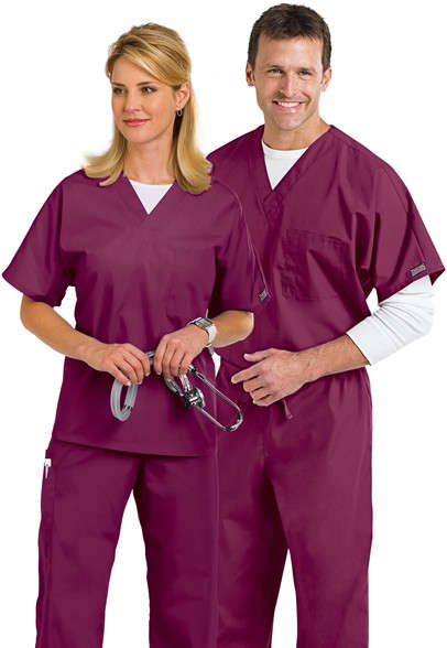 Cherokee-Workwear-unisex-chest-pocket-scrub-top-4777