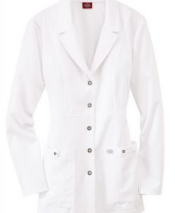 sku 82400 Dickies Xtreme Stretch snap front lab coat
