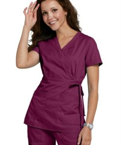 SKU 137 - Koi Katelyn mock-wrap scrub uniform top