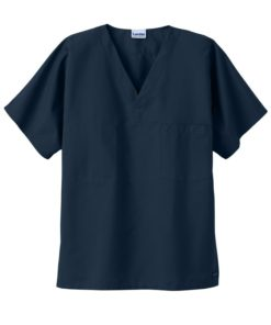 sku 7502 Landau unisex v-neck with chest pocket scrub top