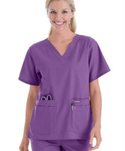 sku 8219 Landau v-neck medical scrub top