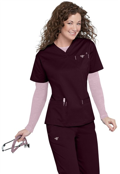 Med-Couture-EZ-Flex-crossover-v-neck-scrub-top-8401