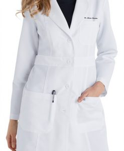 sku 4419 Greys Anatomy princess seam ladies consultation length lab coat