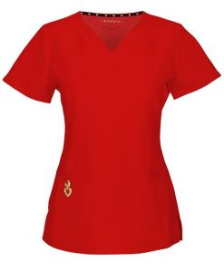 "sku 1701 Heartsoul '""Wrapped Up"" V-Neck Top w/ Antimicrobial' Scrub Top"