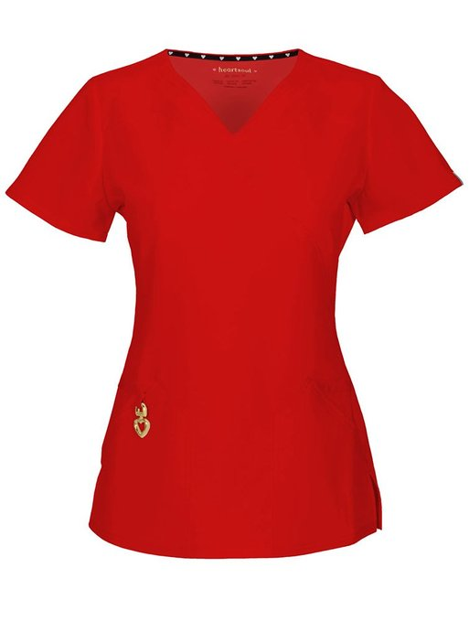 Heartsoul-Wrapped-Up-V-Neck-Top-with-Antimicrobial-Scrub-Top