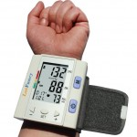 sku 1716 LotFancy Blood pressure Monitor Wrist Type Auto Heart Beat Rate Pulse Meter with Case