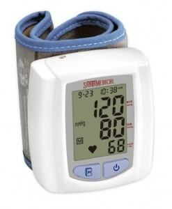 sku1711 Santamedical Wrist Digital Blood pressure Monitor with Case Large Display