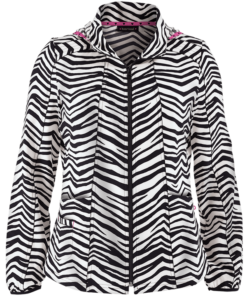 HeartSoul Stripe A Pose print jacket
