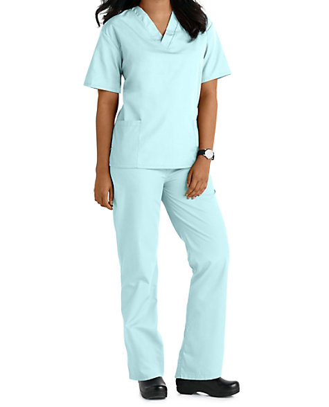 T1010 Natural Uniforms Unisex Two Piece Scrub Set