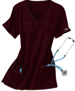 sku 4727 Cherokee Workwear Core Stretch shaped v-neck scrub top
