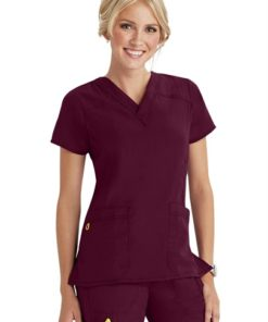sku 6214 WonderWink 4-Stretch v-neck scrub top